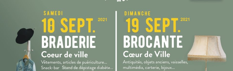 Braderie (samedi 18 septembre) et belle Brocante (dimanche 19 septembre) à Enghien Les Bains.